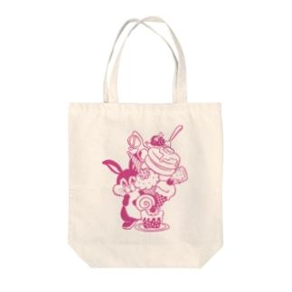 Rabbit Sweets P トートバッグ