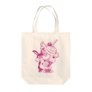 Rabbit Sweets P Tote bags