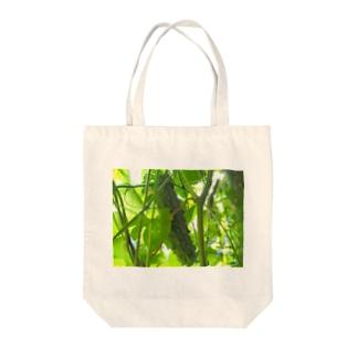 matsunomiの緑のゴ Tote bags