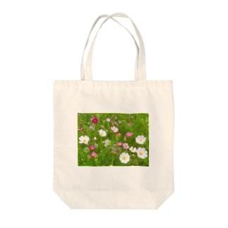 花模様  秋桜便り Tote Bag