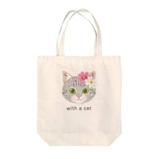 ねこちゃん(コスモス)totebag Tote Bag