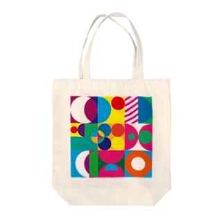 幾何学タイル Tote bags