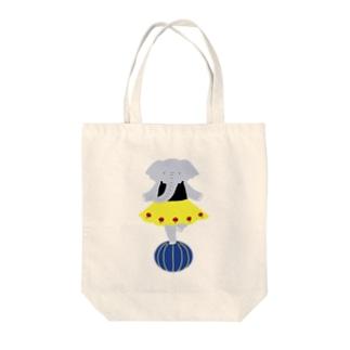 玉乗りゾウ子 Tote bags