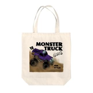 MonsterTruck Tote bags