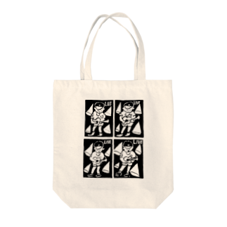 KENROのLIVE BOY Tote bags