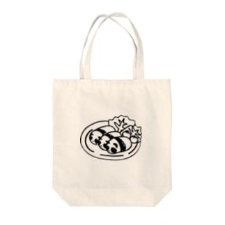 パンダコロッケ Tote bags