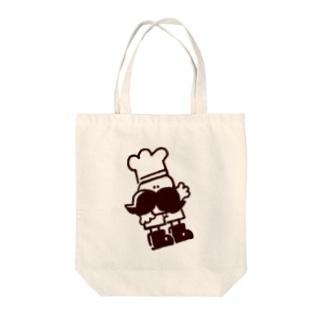 ひげこっく Tote bags