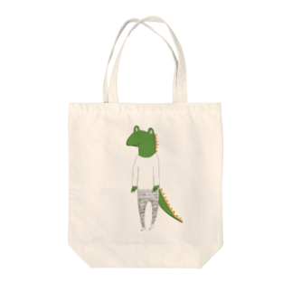 Tommy_is_mozukuのcrocodile カラーバージョン Tote bags