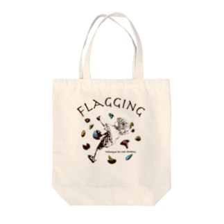 climbing move flagging Tote bags