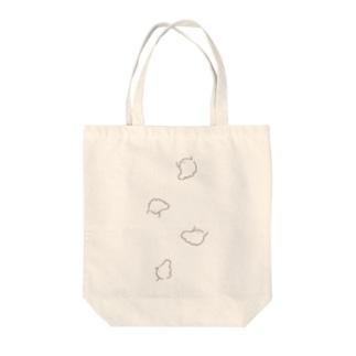 おばけトートバック Tote bags