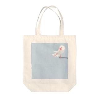 文鳥すさー Tote bags