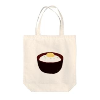 とろろご飯 Tote bags