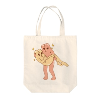 お尻様抱っこ Tote bags