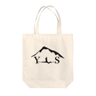 YASHIMA-SLACKLINESのYSスプレッド-ブラック Tote bags