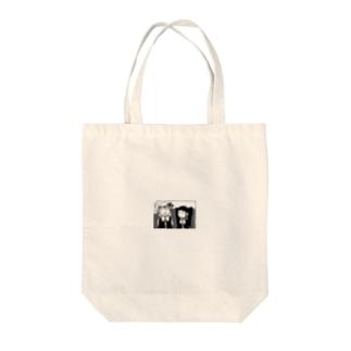 仲良しなふたり Tote bags