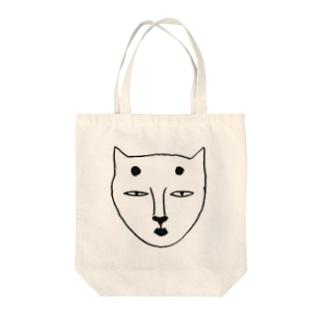 歌川夏子のおかめねこ Tote bags