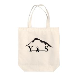 YSダブルドロップニー-ブラック Tote bags