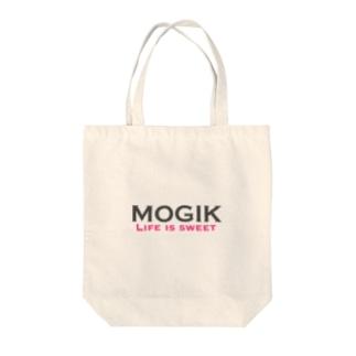 MOGIK GRAY☓PINK Tote bags