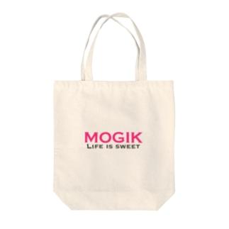 MOGIK PINK☓GRAY Tote bags
