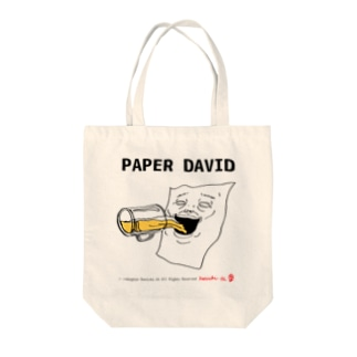 PAPER DAVID Drinking Tote bags