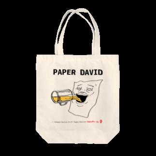 rakugayaのPAPER DAVID Drinking Tote bags