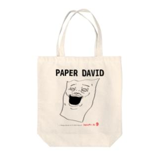 PAPER DAVID Tote bags