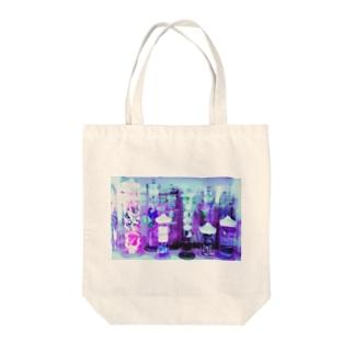紫なホルマリン漬け Tote bags