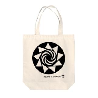 ミステリーサークル08(ブラックver) Tote bags