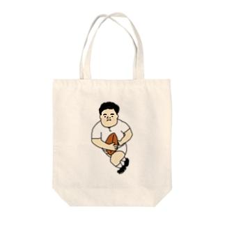 ラガーマン Tote bags