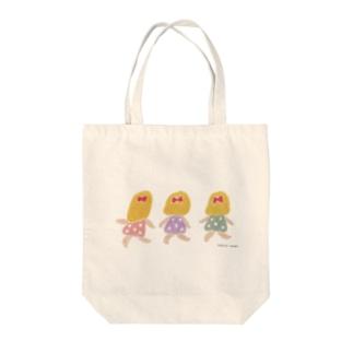 3人娘 Tote bags
