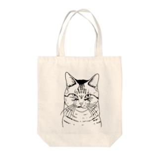 目つきの悪い猫しろ Tote Bag