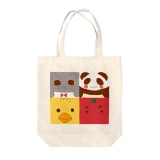 四角×4 Tote bags