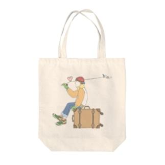ROMAN飛行へ Tote bags