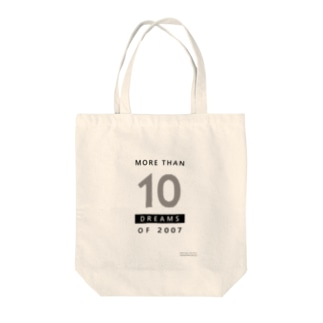 MORE THAN 10 DREAMS OF 2007(ボーダー柄) Tote bags