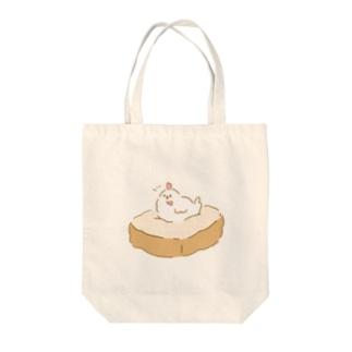コケコッコ Tote bags