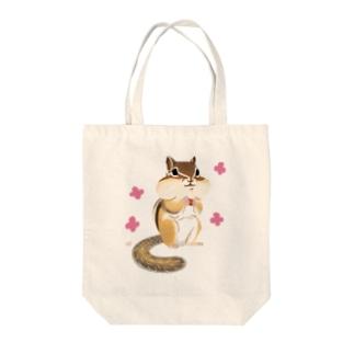 ほっぺぷくぷくシマリス Tote Bag