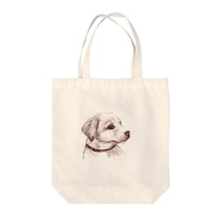 百合の筆の子犬 Tote bags