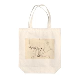 ドローイング Tote bags