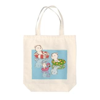 シロクマ Tote bags