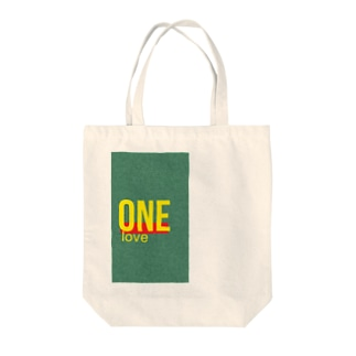 one love project Tote bags