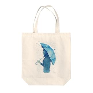 アンブレラ 水彩画 Tote bags