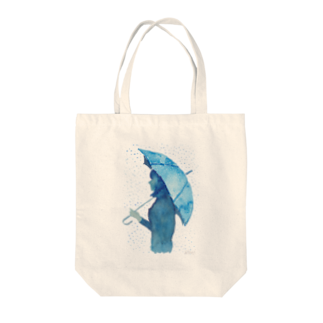 羊のアンブレラ 水彩画 Tote bags
