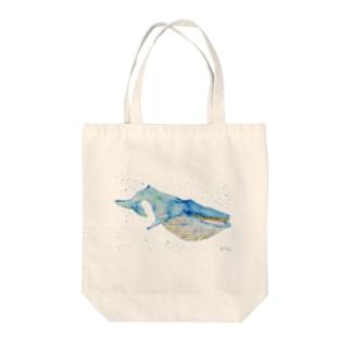 水彩画クジラ Tote bags