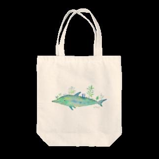 羊の水彩画 植物イルカ Tote bags