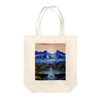 桃源郷 Tote bags