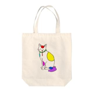 背筋良い猫 Tote Bag
