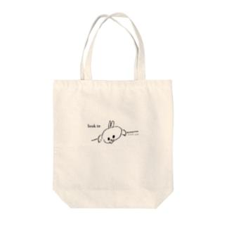 スーパーうさ look in Tote bags
