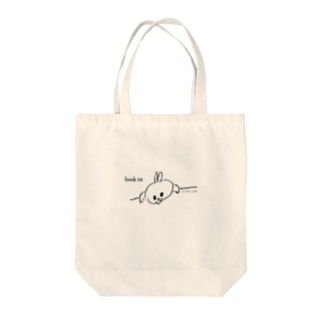 KUMAMIのスーパーうさ look in Tote bags