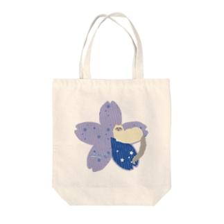 Sakura[Blue-Ragdoll] Tote bags