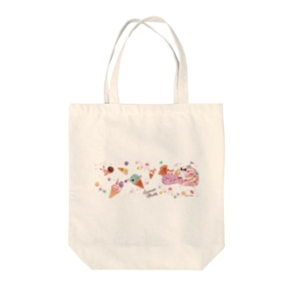 ice cream planet Tote bags